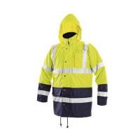 Pánska zimná nepremokavá reflexná bunda CXS, žltá/modrá, M