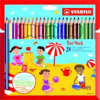 Pastelky Stabilo TRIO, hrubé 24 ks