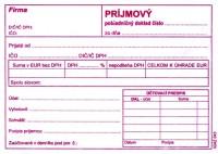Príjmový pokladničný doklad, A6, 100 listov, s DPH  (IGAZ 43)