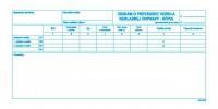 Záznam o prevádzke vozidla nákladnej dopravy, 2/3 A4-kópia