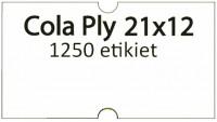 Etiketa cenovková 21x12mm COLA PLY biela