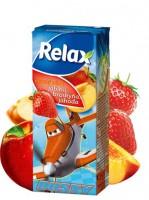 Džús Relax 0,2L jahoda, jablko, broskyňa