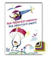 Skicár A4 20 list mix farebných papierov