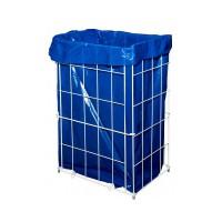 Kôš na papierový odpad do WC mriežkový 60L kov, biely