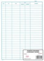 Evidencia odchodov a príchodov vozidiel, A4, 50 listov,   (IGAZ 255)