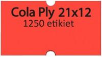Etiketa cenovková 21x12mm COLA PLY červená reflexná