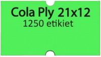 Etiketa cenovková 21x12mm COLA PLY zelená reflexná