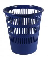 Kôš na papier dierovaný, modrý