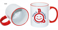 Ceramic design, 0020 - biela/červená