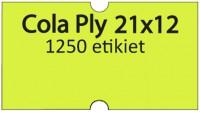 Etiketa cenovková 21x12mm COLA PLY žltá reflexná