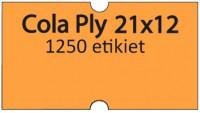 Etiketa cenovková 21x12mm COLA PLY oranžová reflexná