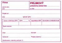 Príjmový pokladničný doklad, A6, 100 listov,samoprepis  pre jednoduché účtovníctvo (IGAZ 896)
