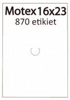 Etiketa cenovková 23x16mm MOTEX biela