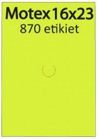 Etiketa cenovková 23x16mm MOTEX žltá reflexná