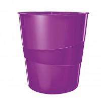 Kôš na odpadky Leitz WOW 15l purpurový