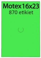 Etiketa cenovková 23x16mm MOTEX zelená reflexná