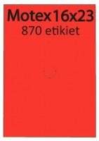 Etiketa cenovková 23x16mm MOTEX červená reflexná