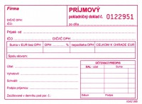 Príjmový pokladničný doklad, A6, 100 listov, s DPH číslovaný (IGAZ 85)