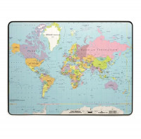 Podložka na stôl 40x53cm s mapou sveta