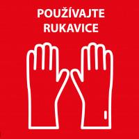 Nálepka Používajte rukavice