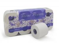 Toaletný papier Celtex Flowers 3vr. 30m biely, 8ks/bal.