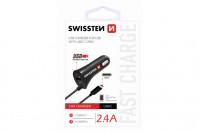 Swissten CL Autonabijacka USB - C a USB 2,4 power