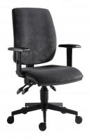Kancelárska stolička 1380 asyn šedá