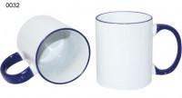Ceramic design, 0032 - biela/modrá tmavá