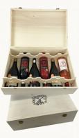 Krabica darčeková na víno Masso Antico, drevená, biela/12 fliaš