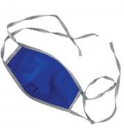 Ochranné hygienické rúško, bavlnené, modré na viazanie