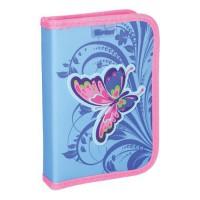 Peračník 1-poschodový/2 klopy plný, 3D Butterfly Pink