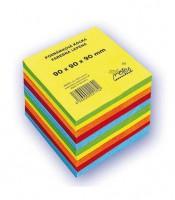 Bloček kocka lepená 90x90x90mm farebný mix