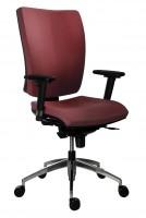 Kancelárska stolička 1580 SYN GALA ALU bordová