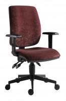 Kancelárska stolička 1380 asyn bordová