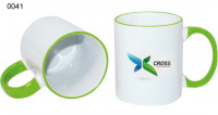 Ceramic design, 0041 - biela/zelená svetlá