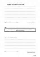 Kniha prianí a sťažností, A4, 2 x 25 listov,   (IGAZ 84)