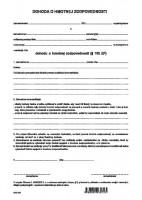 Dohoda o hmotnej zodpovednosti, A4, 1 list,   (IGAZ 72)