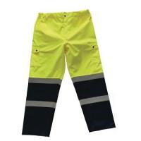 Reflexné nohavice Manutan, žlté/modré, L