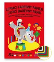 Farebný papier lepiaci