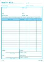 Dodací list, A5, 100 listov,samoprepis s DPH  (IGAZ 9)