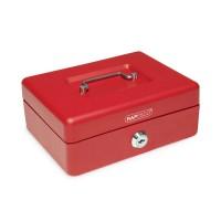 Pokladnička uzamykateľná Rapesco 190x150x70mm červená
