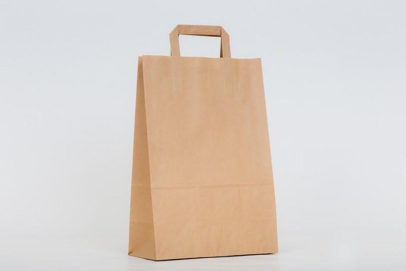 676f401bd EKO taška s plochou rúčkou, hnedej farby je vyrobená z papiera.Minimálne  množstvo na objednanie 50 kusov. Možnosť potlače tašky, pre viac info nás  neváhajte ...
