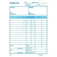 Dodací list A5 s DPH - 100 listov