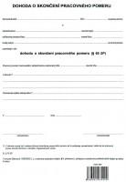 Dohoda o skončení pracovného pomeru, A4, 1 list,   (IGAZ 99)