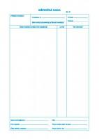 Inšpekčná kniha, A4, 25 x 3  listov,samoprepis   (IGAZ 306)