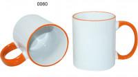Ceramic design, 0060 - biela/oranžová