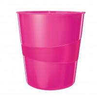 Kôš na odpadky Leitz WOW 15l ružový