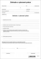 Dohoda o vykonaní práce, A4, 1 list,   (IGAZ 10)