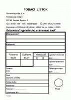 Podací lístok, A6, 100 listov,   (IGAZ 683)
