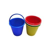 Vedro plastové 5L, plastová rúčka, farebný mix
